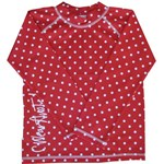 RED with WHITE SPOTS LONG SLEEVE - SIZE 0
