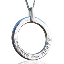 Hand-stamped Leah pendant