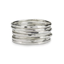 Skinny stackable rings  x 7