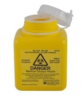 ASP 500mL Screw-top Sharps Container