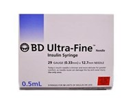 BD Ultrafine Syringe 0.5ml 29G 12.7mm