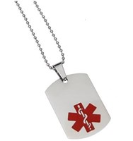 Mediband Dog Tag Stainless Steel