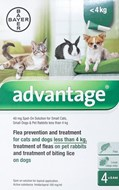Advantage Green Cats/Rabits Under 8.8lbs (4kg) - 4 Pack
