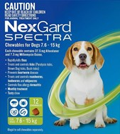Nexgard Spectra Medium 16 - 33 lbs (7.5 - 15 kg) - 12 pack