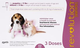 Revolution Pink Puppy and Kittens under 5lbs (2.5kg) - 3 Pack
