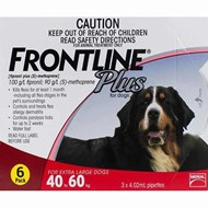 Frontline Plus XL Dogs 88-132lbs (40-60kg) - 6 Pipettes