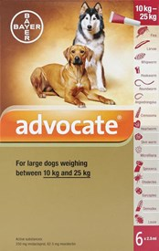 Advantage Multi (Advocate) Dogs 22-55lbs (10-24kg) - 6 Pack