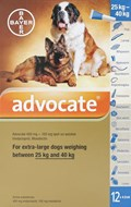 Advantage Multi (Advocate) Dogs Over 55lbs (25kg) - 12 Pack