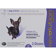 Revolution Purple Dogs 5-10lbs (2.3-4.5kg) - 1 Pack