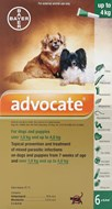 Advantage Multi (Advocate) Dogs Under 4kg 8.8lbs (4kg) - 6 Pack