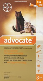 Advocate Cats Under 8.8lbs (4kg) - 3 Pack