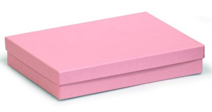 Large kraft pink multi purpose recycled box 178 x 128 x 32mm (KCPI80)