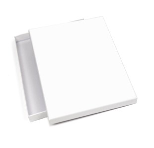 Small White Matt Laminated Photography Box 254 x 207 x 20mm (JUPHWH01)