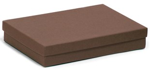 Large kraft chocolate multi-purpose recycled gift box 178 x 128 x 32mm (KCCH80)