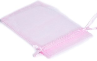 XXL Pink Organza Pouch With Ribbon Drawstring 230 x 170mm (OGPIXXL)