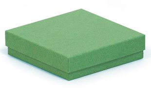 Square dark green recycled kraft gift box 89 x 89 x 23mm (KCDG18)