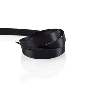 Black Satin Ribbon 10mm | Double Faced Satin Collection