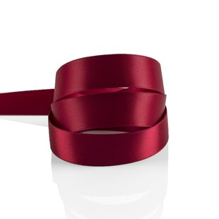 Cranberry Satin Ribbon 15mm | Double Faced Satin Collection