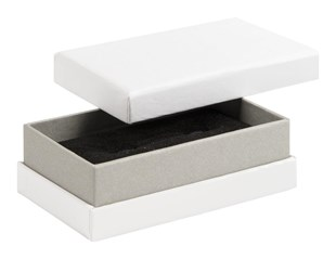 Shoulder Box Collection | Cufflink Jewellery Box White & Grey