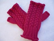 Mittens - Plaited Cable Fiingerless Gloves