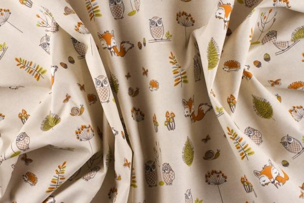Attractive Woodland Creatures Design Curtains Funky Nursery For Gorgeous