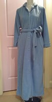 Influence Ladies Buttoned Fleece Dressing Gown L90 289
