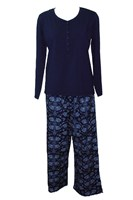 Dilly Lane Scandinavian Dream Knit Top Flannelette Pyjamas in Cotton