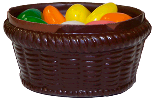 Chocolate Basket with Jelly Eggs
