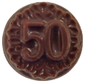 50 Chocolate Coin