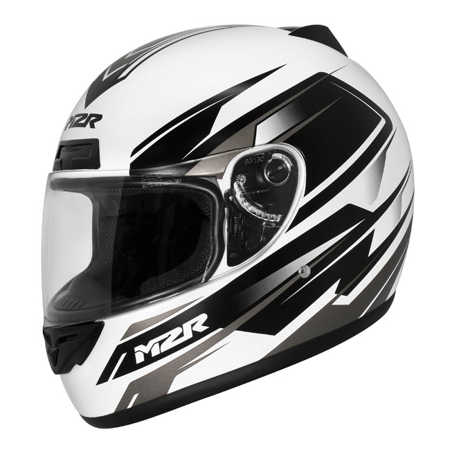 9fc1ce34 M2R M1 - CHASE PC-6F WHITE Road Motorcycle Helmet | Sydney City ...