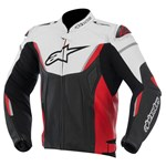 Alpinestars GP R Non-Perforated Leather Jacket - Black/White/Red
