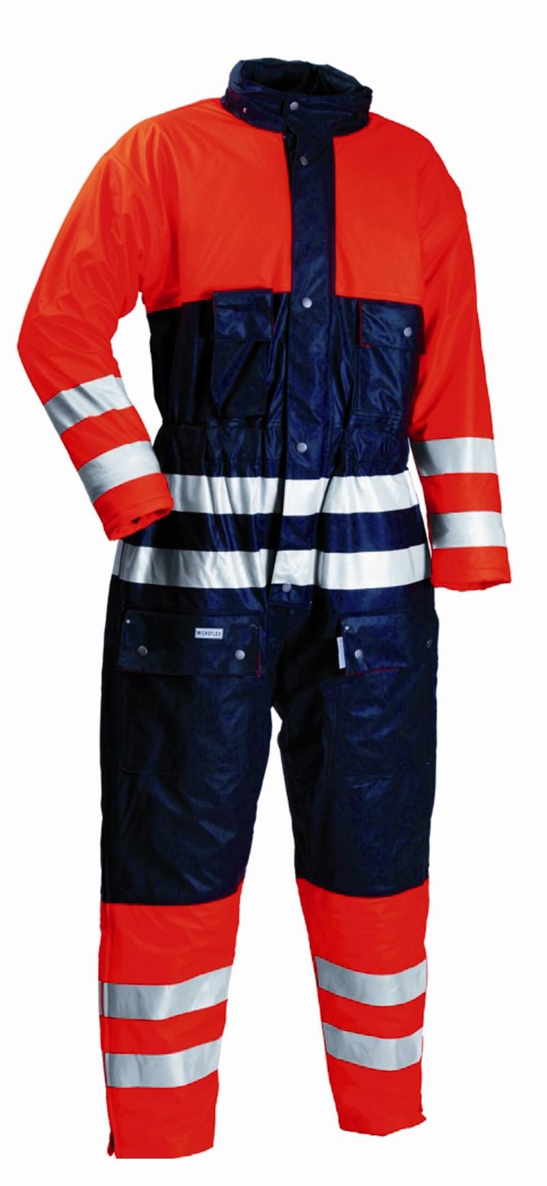 Flame Retardant A//S Waterproof Quilted Coverall  Yellow//Navy Blue Lyngsoe LR33