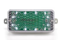 JC Multilight - 6V Battery Powered White Bulkhead Light - Aluminium Trim/Mild Steel Fixing - [JC-BULKH]