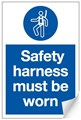 Safety Harness Must be Worn Sign - 200 x 300Hmm - Self Adhesive Vinyl - [AS-MA126-SAV]