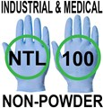 Supertouch - Blue Medical Powderfree Nitrile Gloves - Conforms to EN455 1-4 & 2002/72/EC - Box of 50 Pairs - ST-12611