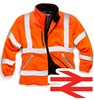 Hi Vis Orange Zipped Fleece Jacket with Rain Pads on Shoulders and Neck - Conforms to EN471 Class3:2 And GO/RT 3279 - NON PRINTABLE - SN-HV022-OR