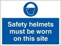 Safety Helmets Site Sign - 600 x 450Hmm - Rigid Plastic - [AS-MA114-RP]