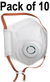 AIR+ FFP3 Valved Foldable Smart Mask - Conforms to EN149:2001+A1:2009 - Pack of 10 - [AR-700010]