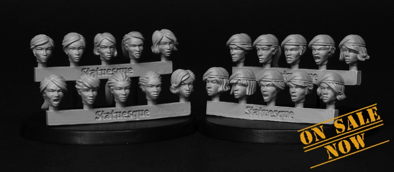 Heroic Scale Heads - now with Berets!