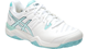 Asics Gel Challenger 10 Clay Ladies Tennis Shoes white blue E555Y-0140