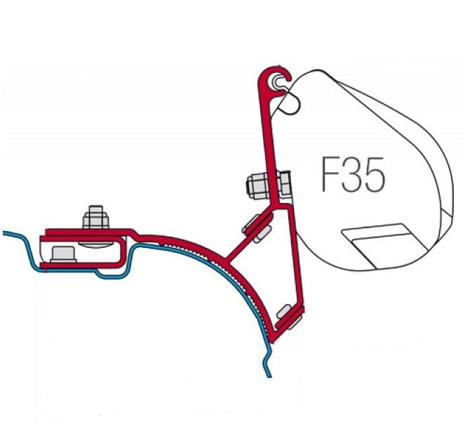 Fiamma F35 Awning Bracket Vw T5 Or Vw T6 Without Awning