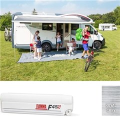 Fiamma F45 S awning. 300cm - White case with a Royal Grey canopy