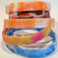 Silicone Wristbands - Marbled Debossed