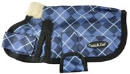 Waterproof Dog Coat 3009 - Blue Check (Small to Medium dogs)