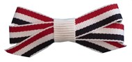 Blue,White & Red Pet Hair Bows (4 Pack) Small
