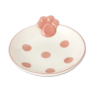 Polka Paws Tiny Handpainted Pet Bowl