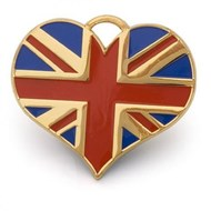 Heart Union Jack ID Tag (Gold)