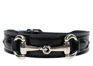 Hartman & Rose Belmont Collar - Black Patent & Nickel