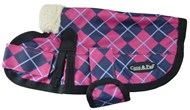 Waterproof Dog Coat 3009 - Pink Check (Small to Medium Dogs)