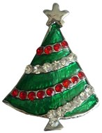 Christmas Tree Crystal Slide Charm